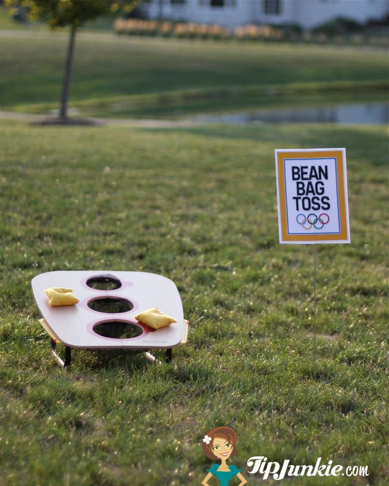 Olympic Game Sign for Bean Bag Toss by Tip Junkie