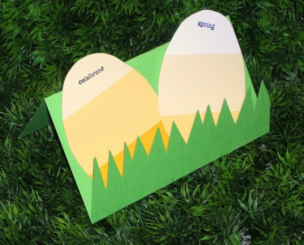 Paint Chip Easter Card