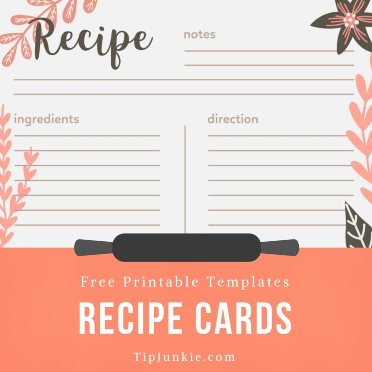 This is an image of Impeccable Recipe Card Template