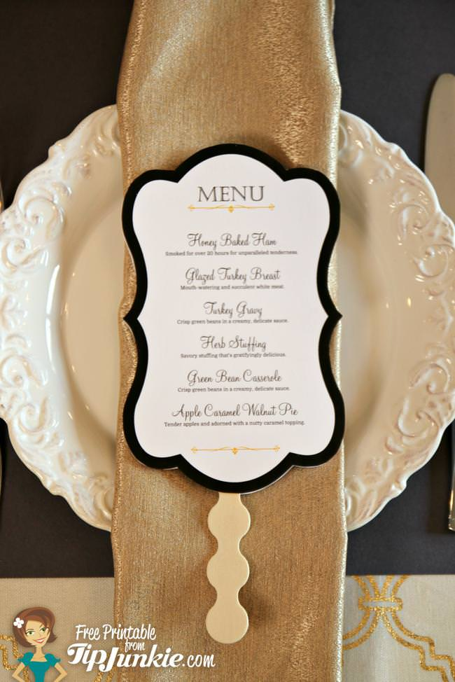 Thanksgiving Menu and Photo Prop_TipJunkie