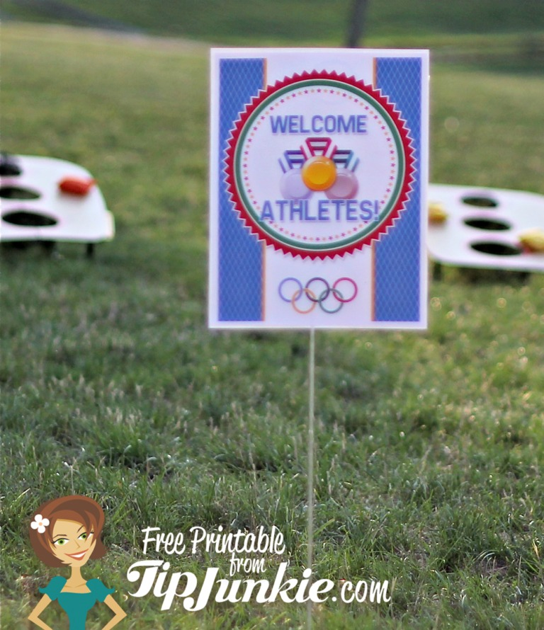 Welcome Olympic Athletes Party Sign by TipJunkie