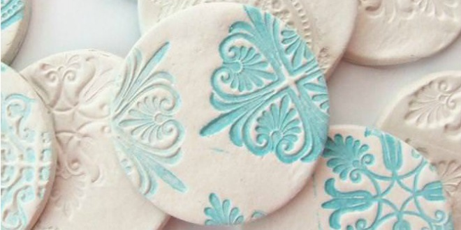 diy stamped clay magnet tutorial