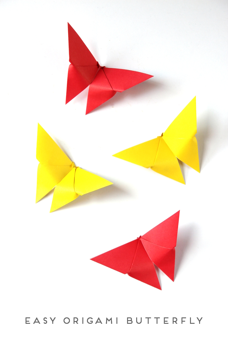 Easy origami butterfly tutorial tip junkie step 2 jeuxipadfo Image collections