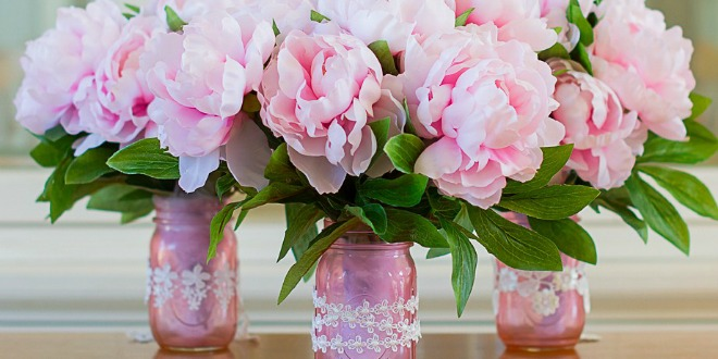 Mother's Day Color Mason Jar Flower Bouquets #12monthsofmartha