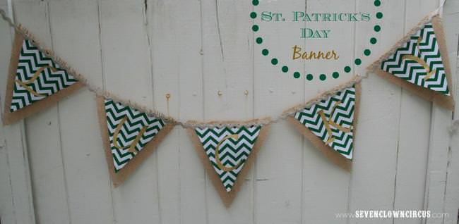 st patricks day banner template to make