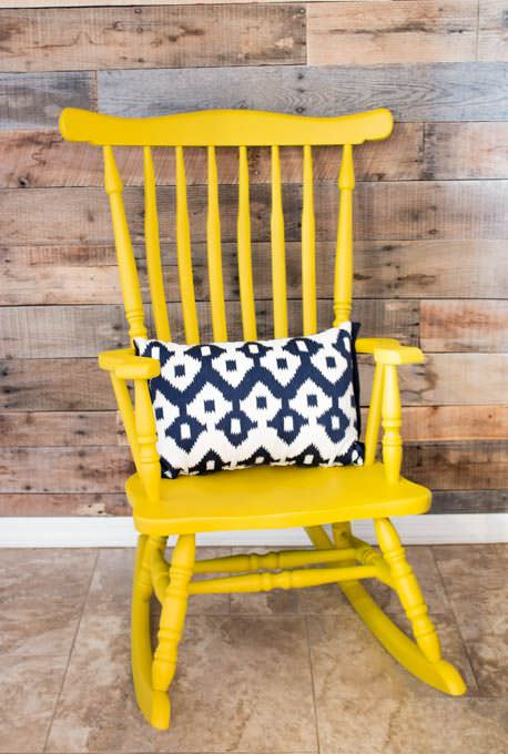 yard sale rocking chair makeover