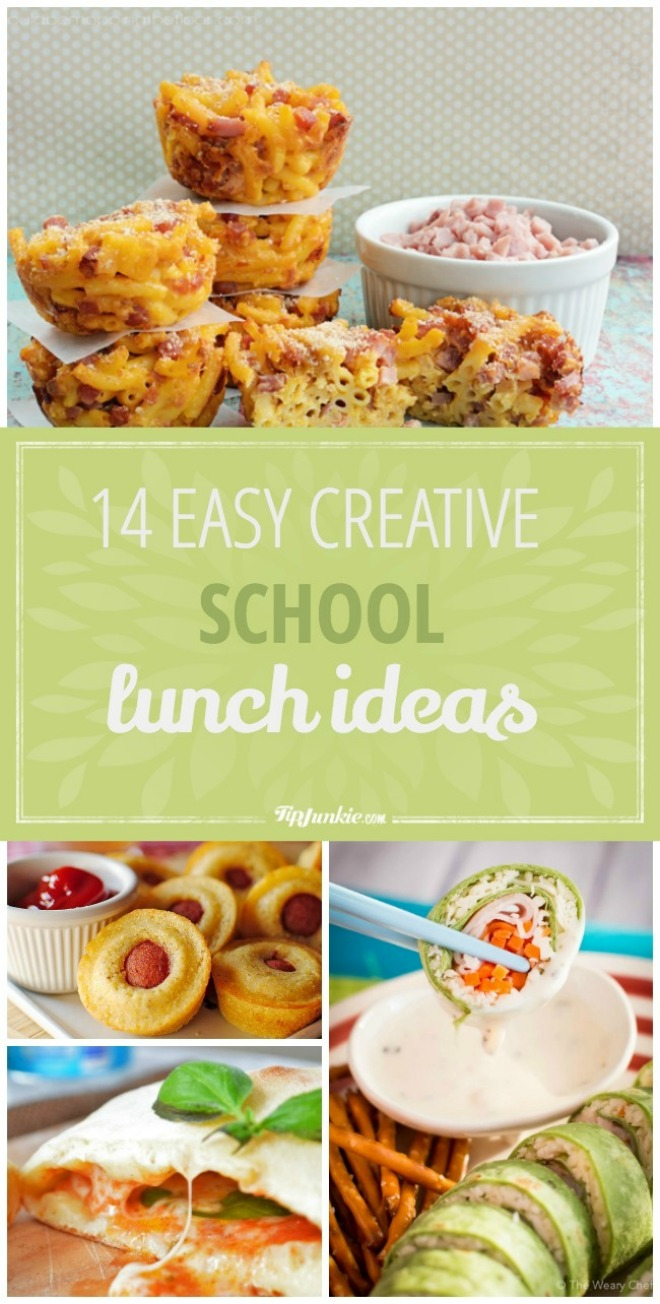 14 EASY Creative School Lunch Ideas