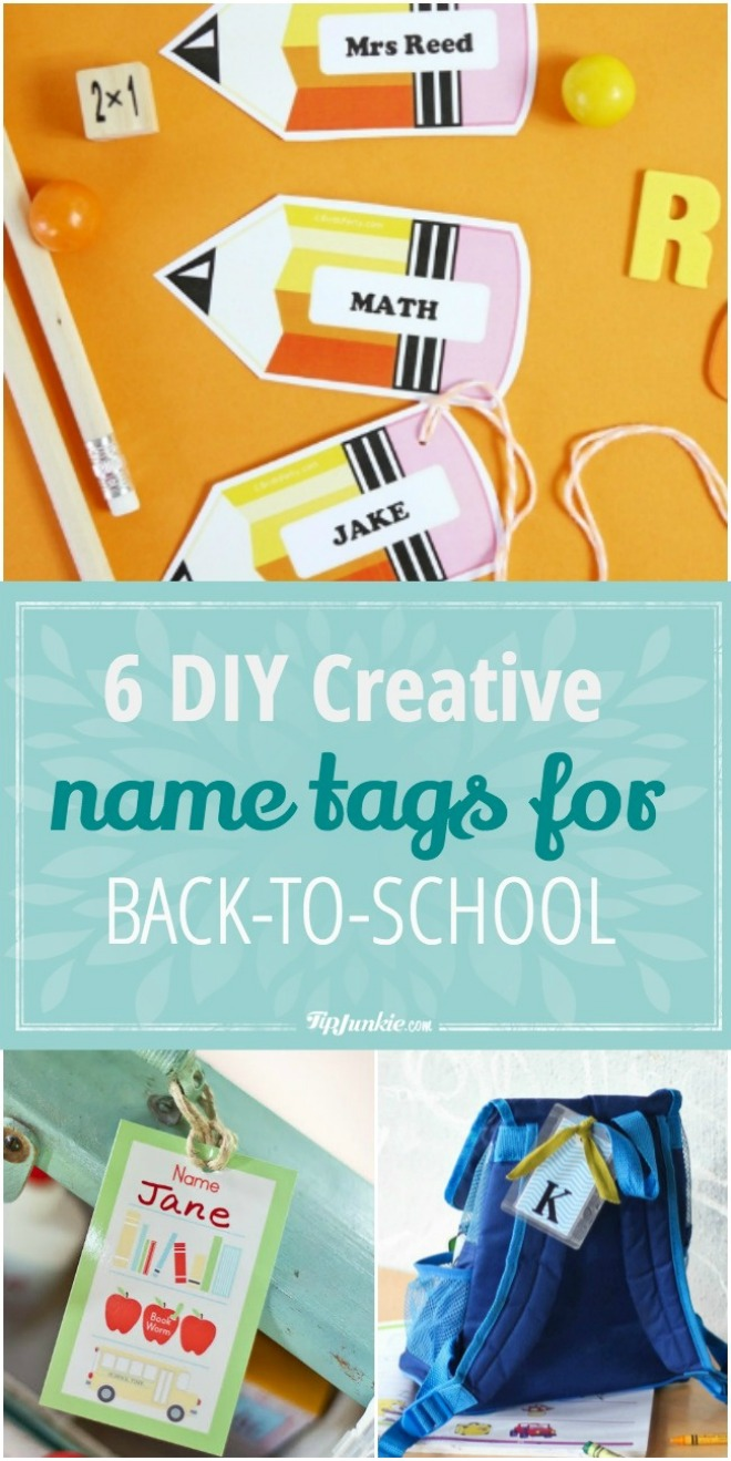 6 DIY Creative Name Tags for Back-to-School