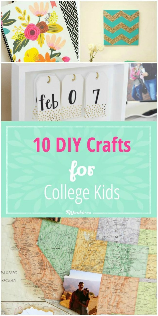 10 DIY Crafts for College Kids