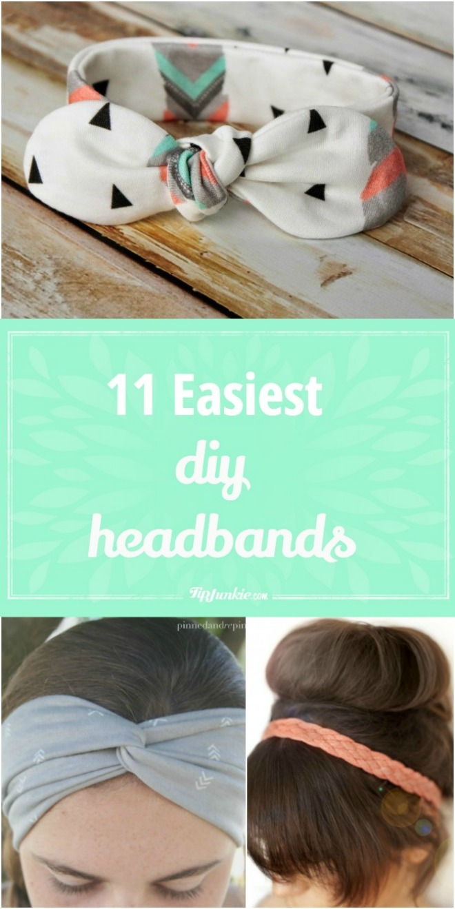 11 Easiest DIY Headbands