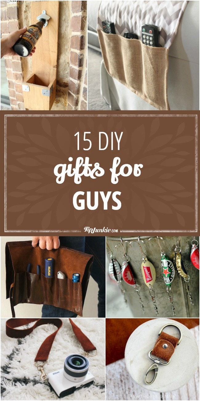 15 DIY gifts for men that they'll actually use!