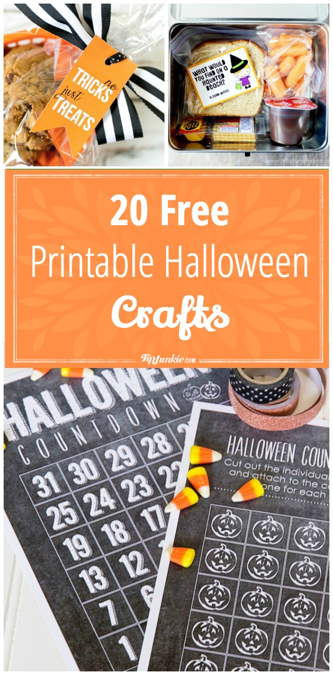 20 Printable Halloween crafts that are FREE!