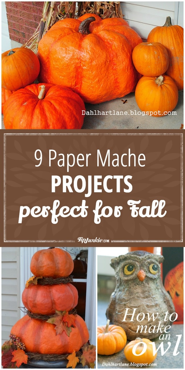 9 Paper mache projects that are fun for Fall!