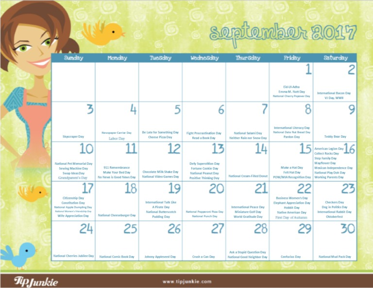 Stay organized with these Must-Have Printable Calendars for September [FREE!]