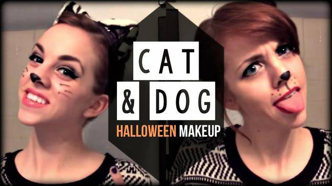 cat and dog makeup