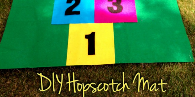 diy hopscotch mat with felt