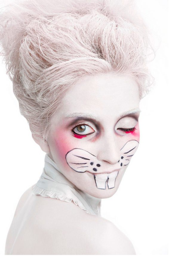 white rabbit makeup