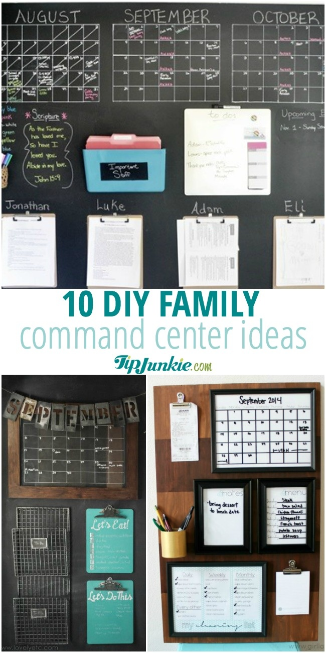 Calendar Organization Xiii : Diy family command center ideas tip junkie