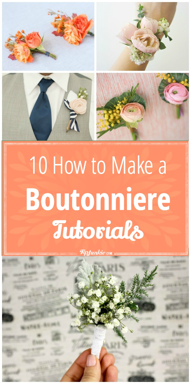 How to Make a Boutonniere Tutorials