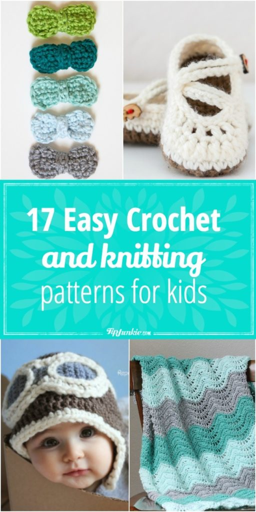 17 Easy Crochet And Knitting Patterns For Kids Tip Junkie
