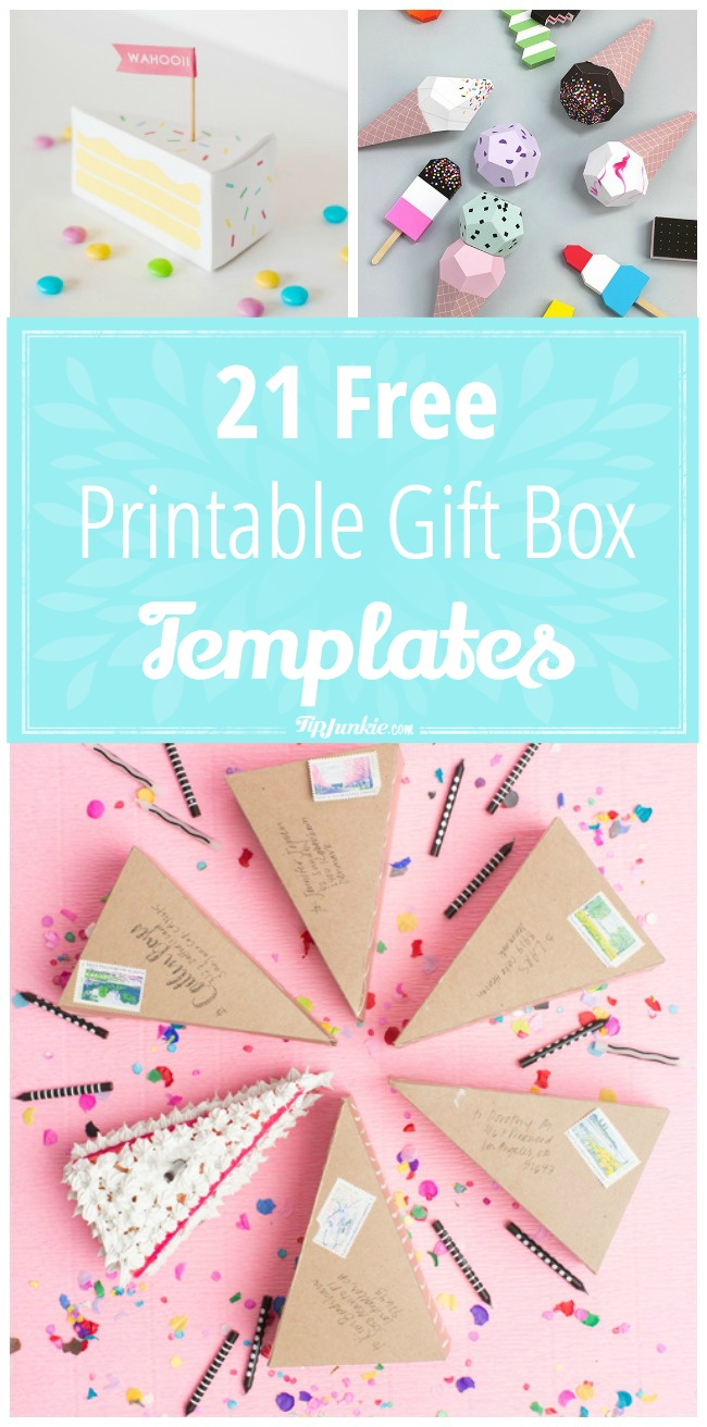 Crazy Creative Printable Gift Box Templates