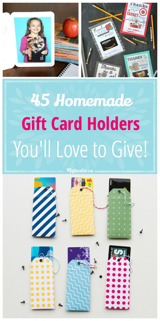 45 Homemade gift card holders you'll love to give!