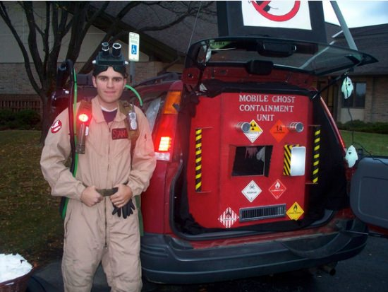 Ghost buster theme car trunk