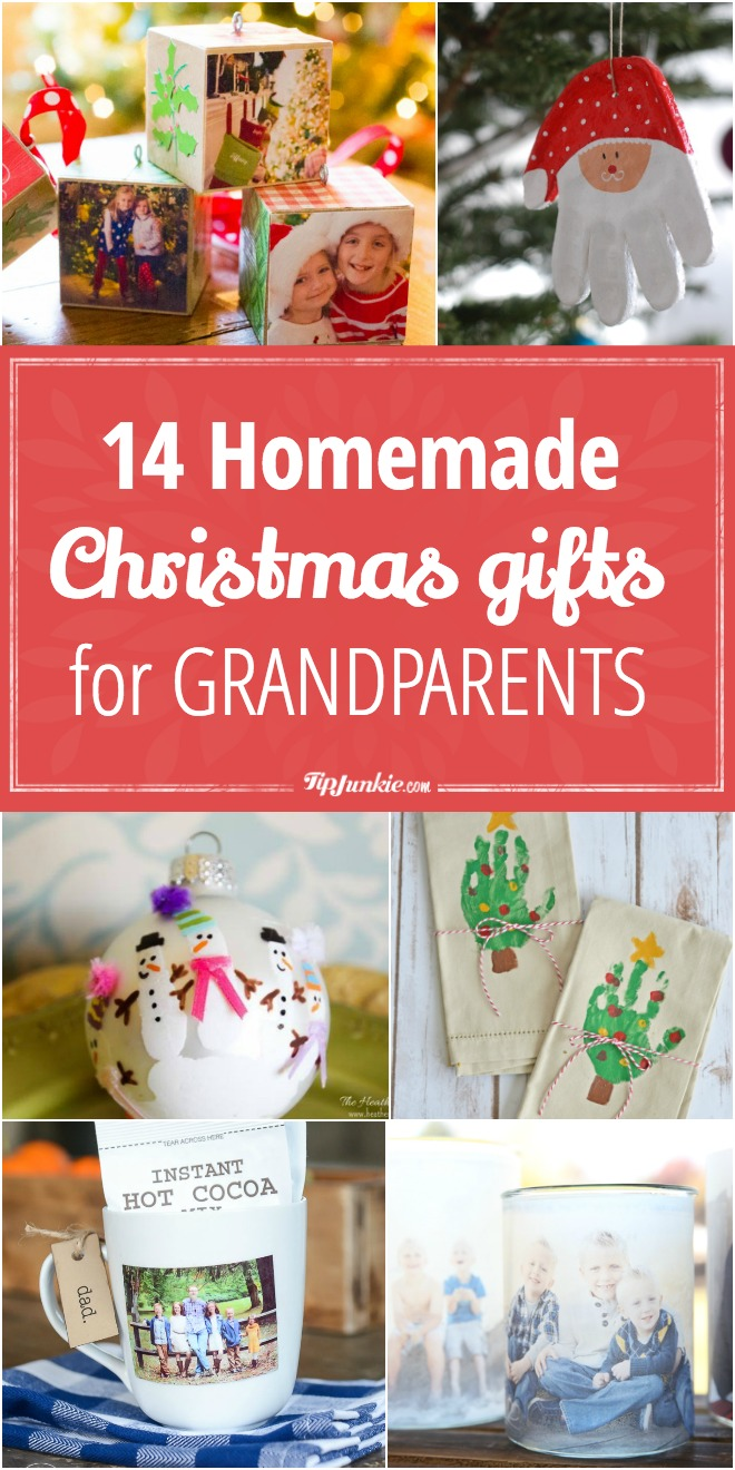 14 Homemade Christmas Gifts for Grandparents – Tip Junkie