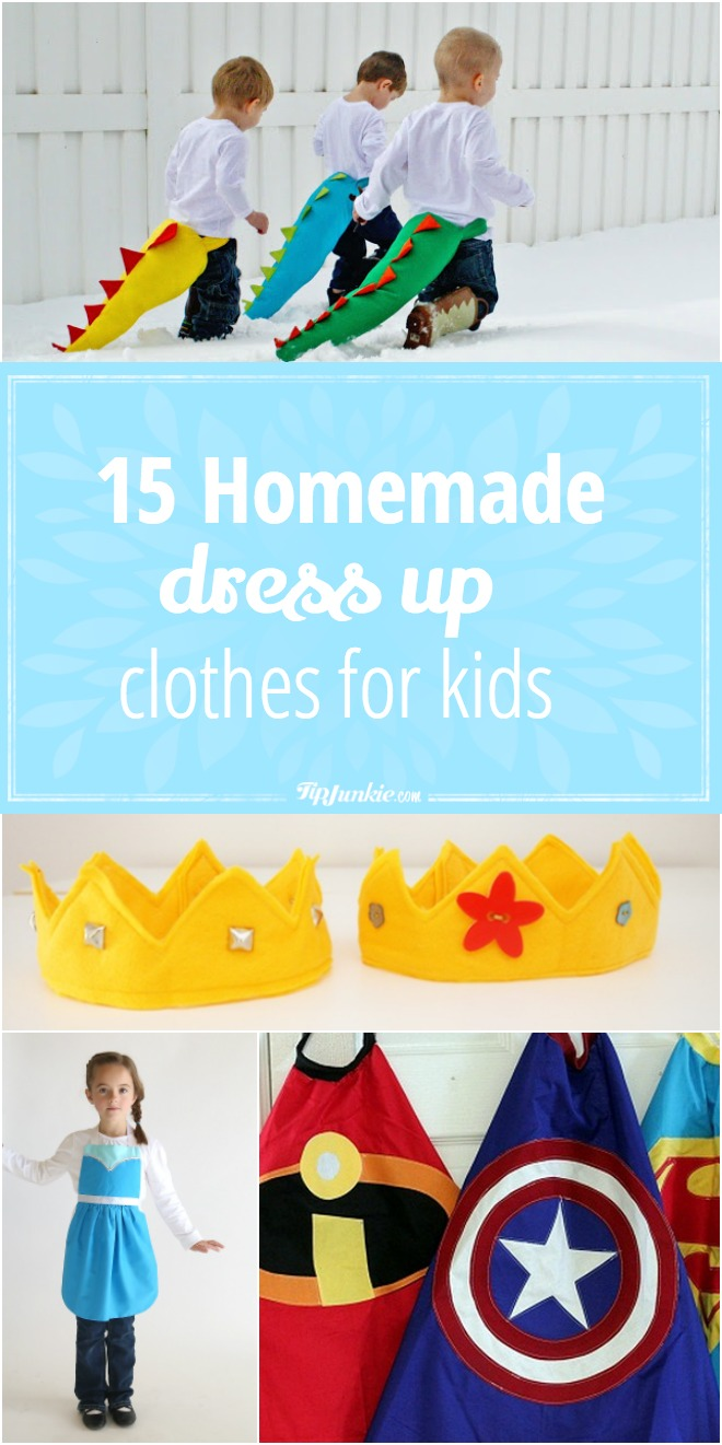 15 Homemade Dress Up Clothes for Kids