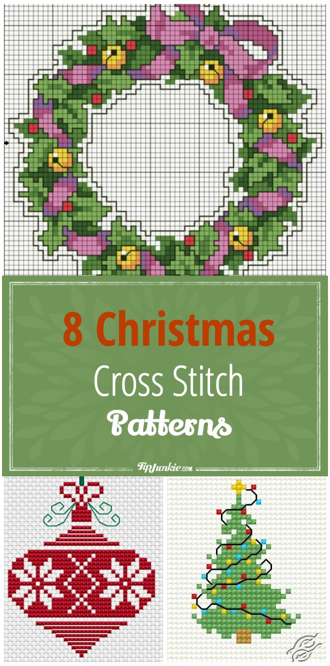 8 Christmas Cross Stitch Patterns