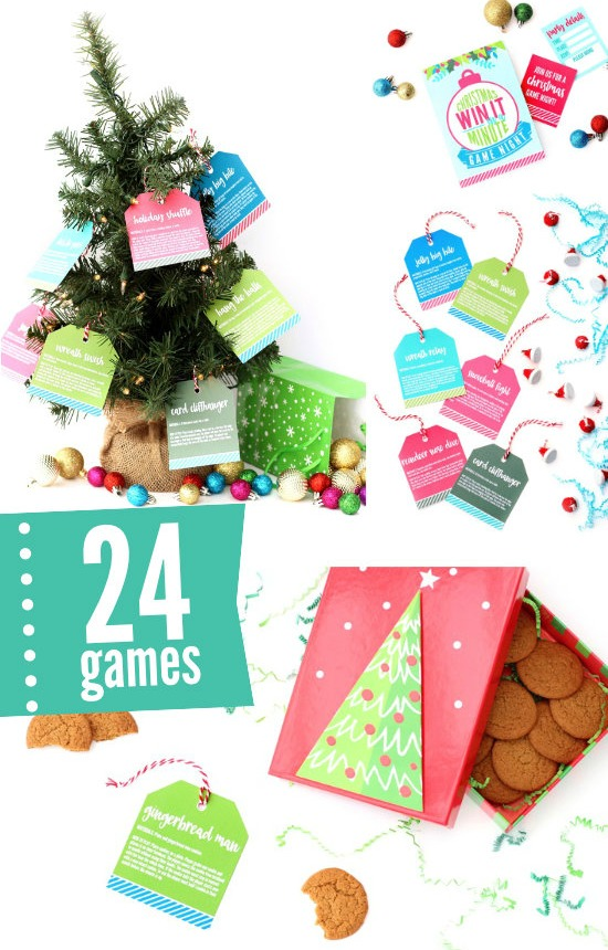 photo relating to Printable Christmas known as 40 No cost Printable Xmas Occasion Game titles Suggestion Junkie
