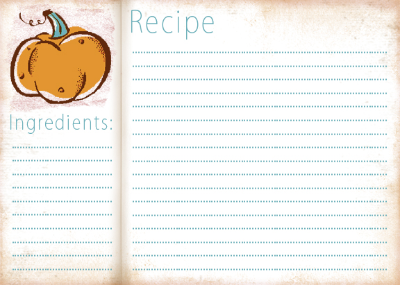 free thanksgiving recipe card