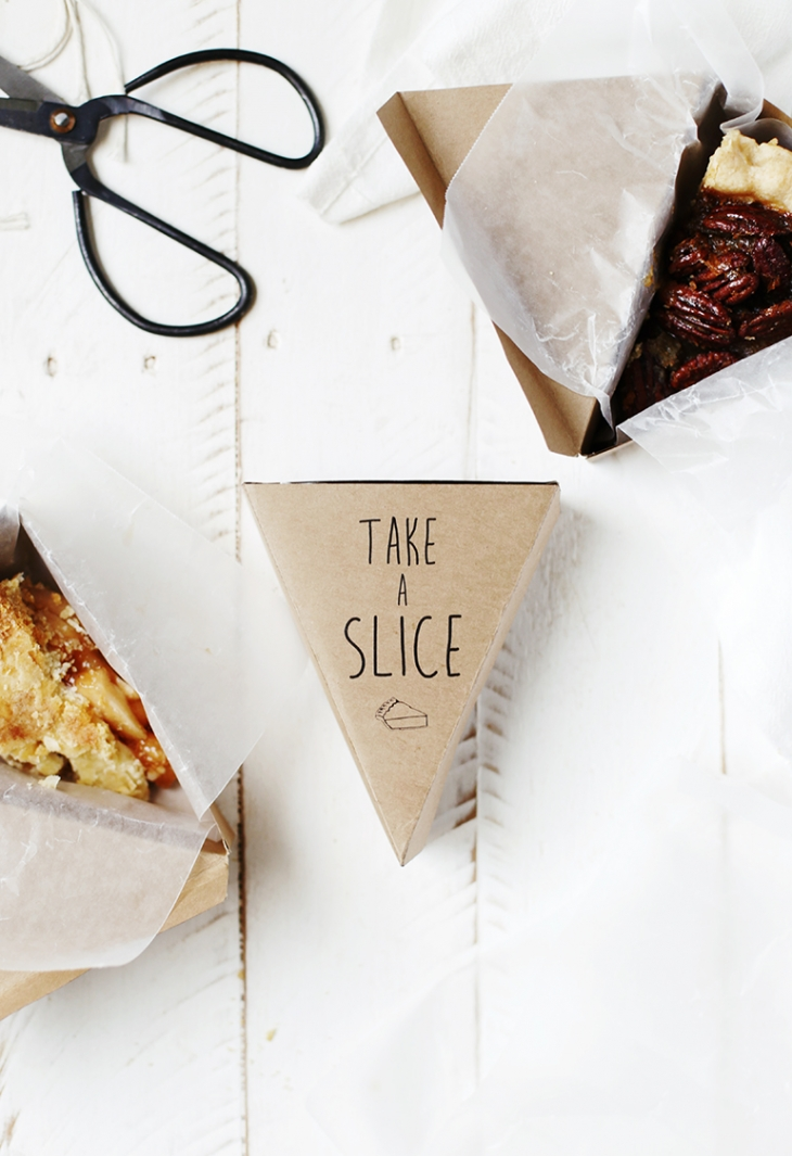 printable pie box with lid