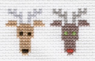 reindeer cross stitch pattern