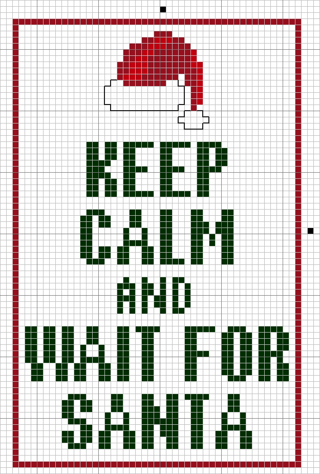 santa cross stitch pattern