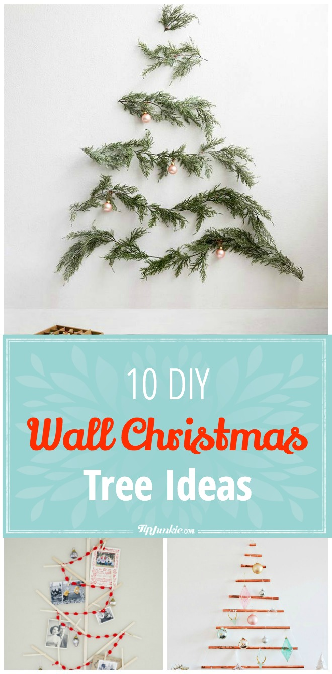 10 Diy Wall Christmas Tree Ideas Tip Junkie