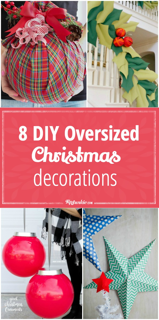 DIY Outdoor Christmas Decorations. diy oversized ornaments