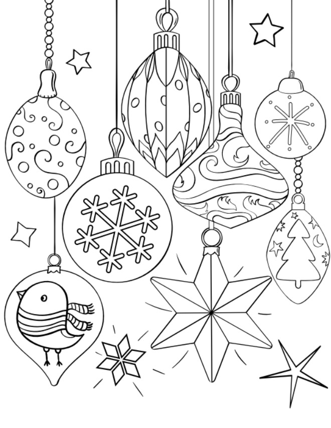 free christmas ornament coloring page - Coloring Pages Christmas Ornaments