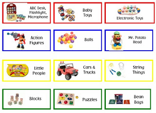 Free Shelf Bin Labels for Toys