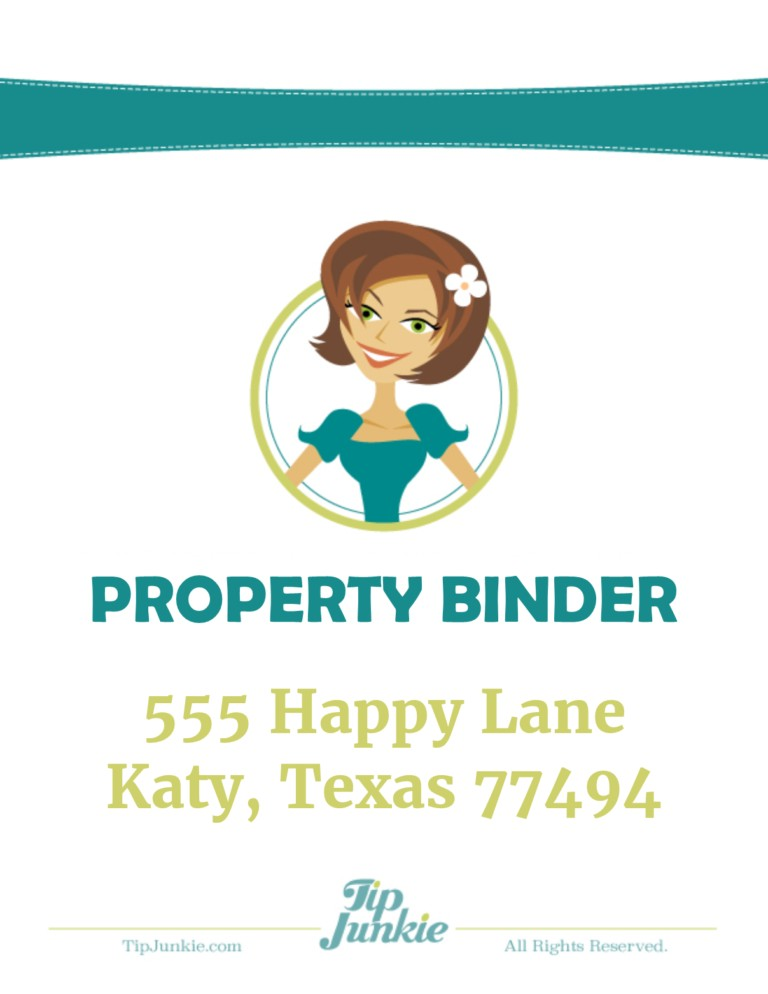 Property Binder Free Printable Organizer by Tip Junkie