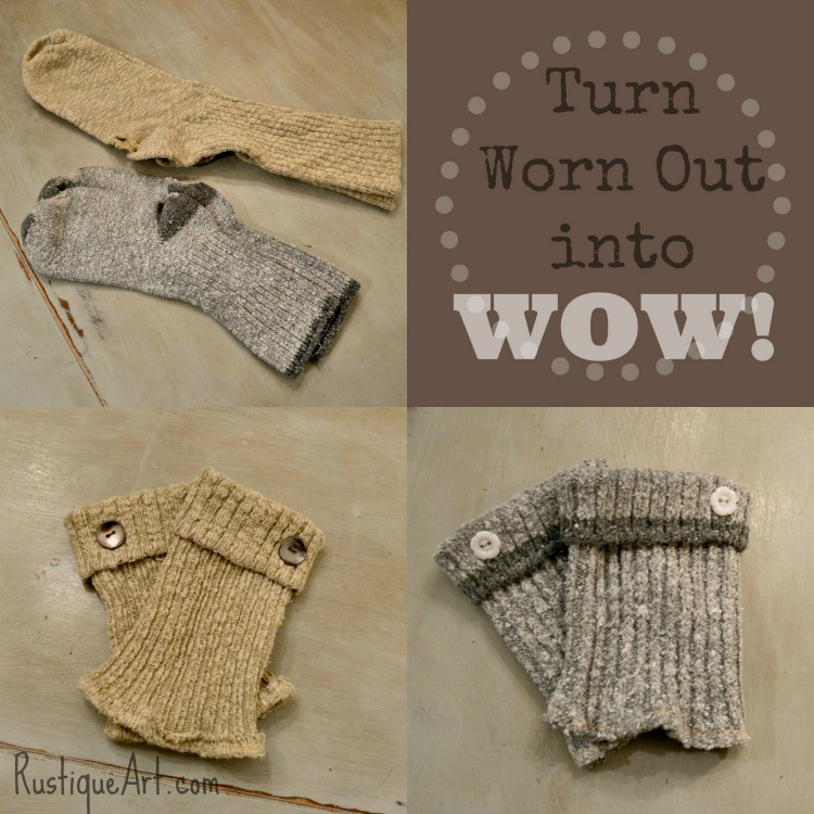 upcycled boot cuffs