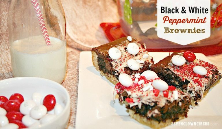 black and white peppermint brownies