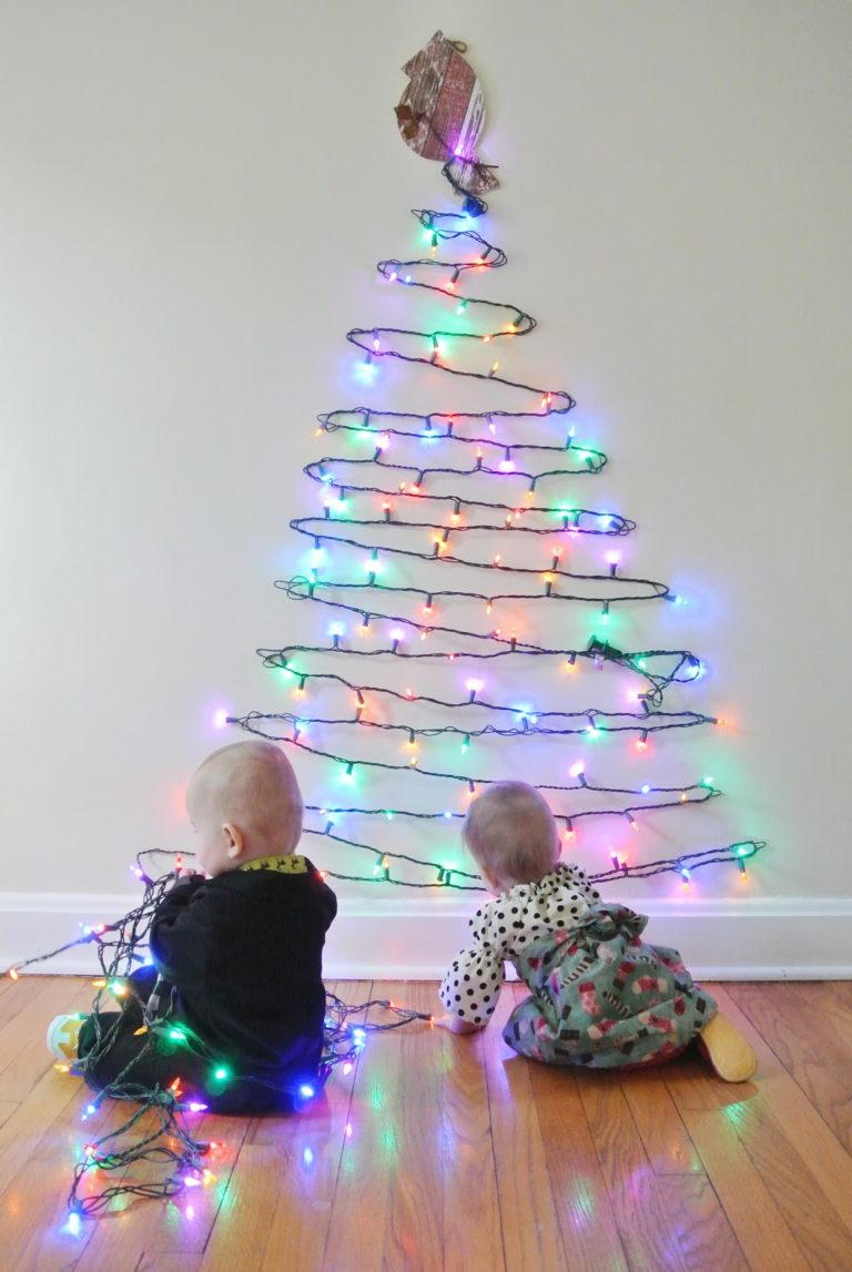 10 diy wall christmas tree ideas tip junkie wall christmas tree christmas light christmas tree aloadofball