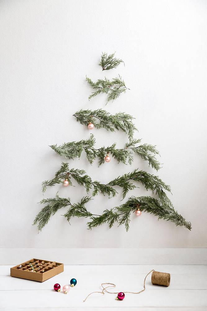 christmas tree alternative - Christmas Tree Branch Decorations