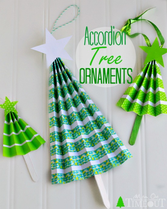 easy diy accordian tree ornaments