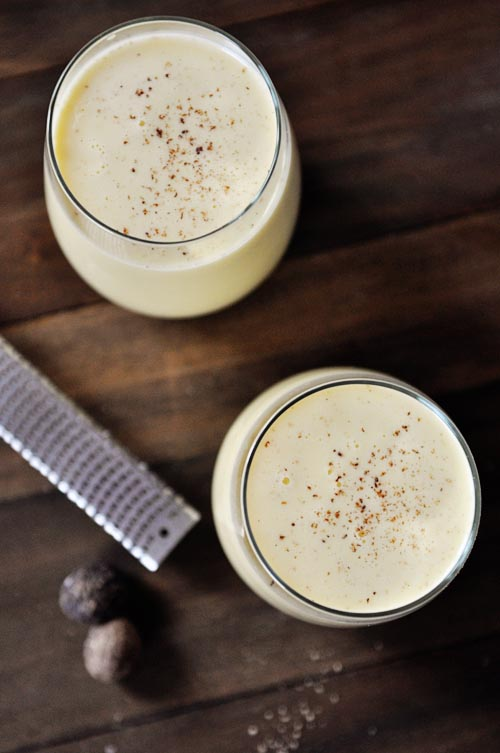 homemade egg nog
