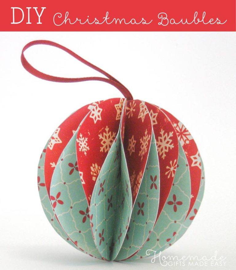 Paper Ball Christmas Decorations Fair 20 Easy Paper Ornaments For Christmas  Tip Junkie Review