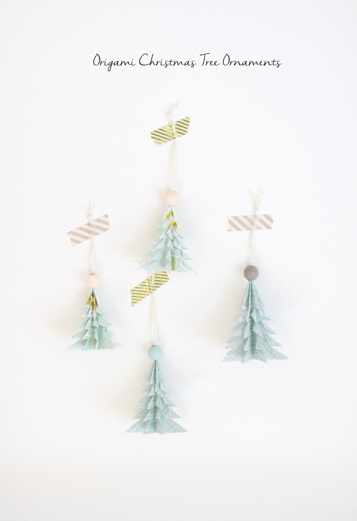 origami christmas tree ornaments-1