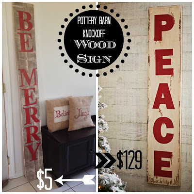 oversize christmas wood sign knockoff