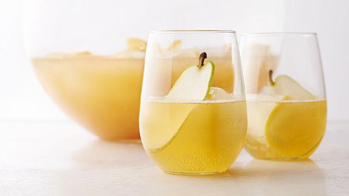 sparkling pear drink